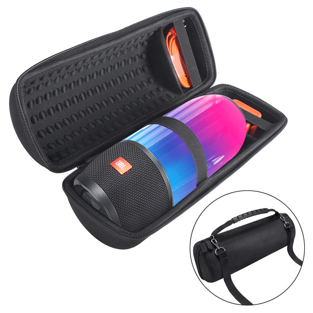 Difícil para Pulso Bolsa para Pulse3 2018 Nova pu Caso Eva Jbl 3 Falante Carry Storage Case Bluetooth Speaker Jbl s com Cinto