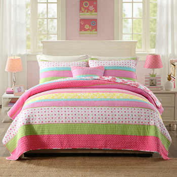 CHAUSUB Bedspread Kids Quilt Set Cotton Coverlets Quilted Bed Covers Shams Pink Girl Quilts 2pcs 3pcs Queen Twin Size Blanket - DISCOUNT ITEM  30% OFF All Category