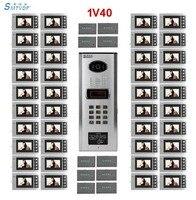 SMTVDP Building Home security Video Intercom System for 40 apartments 4.3 LCD Video Door Phone IR Video Doorbell in stock