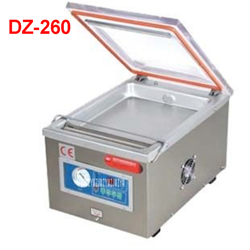 DZ-260 110V / 220V food vacuum sealer, vacuum packing machine vacuum chamber, aluminum bags food rice tea vacuum sealing machine vacuum packing machine chamber vaccum sealer