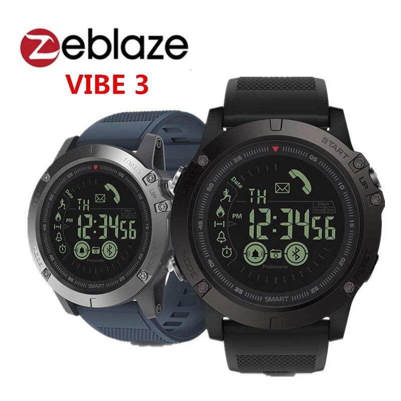 Zeblaze VIBE 3 reloj inteligente BT4.0 deportes inteligente reloj pulsera inteligente podómetro alarma de tiempo de espera pk thor smartwatch