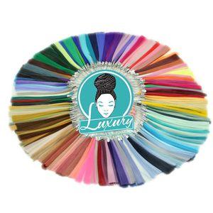 """Image 5 - Luxus Für Flechten 10packs 24 """"94 farben Navy Neon Olive Lavendel Lila Vintage Grau Synthetische Faser Jumbo Zöpfe"""