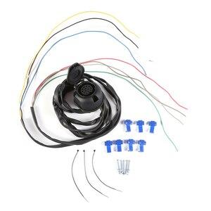 Image 1 - AOHEWEI 1 pc 牽引 7 ピントレーラープラグ 1 pc 7Way プラスチックソケット防水 12 V 用牽引棒キャラバントラック Rv バン