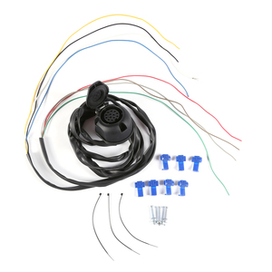 Image 1 - AOHEWEI prewired 13 pin core way towing  trailer socket  harness with 2 meter 8 pin cable wire 13 pin trailer adapter connector