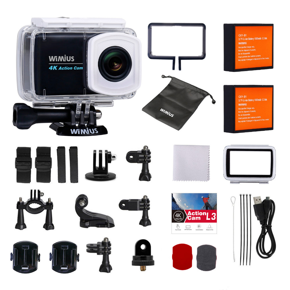 Original Wimius 4K Touch Screen Action Camera Wifi Notavek 96660 2 45 inch 12MP Waterproof 30M