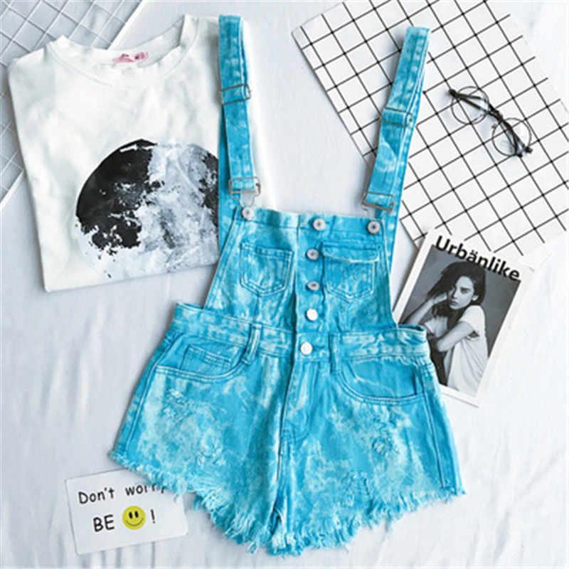 CbuCyi Новый Модный женский джинсовый комбинезон с лямками, хлопковый Короткий комбинезон, Свободный Повседневный комбинезон, шорты, комбинезон, женский спортивный костюм