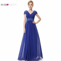 Prom Dresses 2015 New Arrival HE08467SB Women S Sexy V Neck Ruched Empire Appliques Long Blue