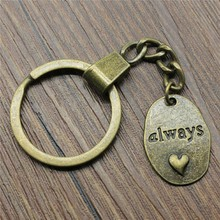 Keyring Always Keychain 25x18mm Antique Bronze Key Chain Party Souvenir Gifts For Women