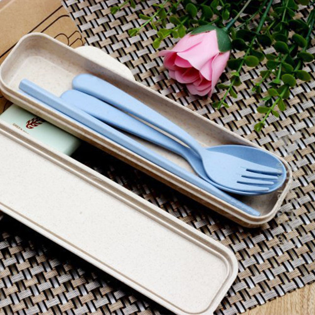 Useful Portable Durable Eco-Friendly Plastic Cutlery Set