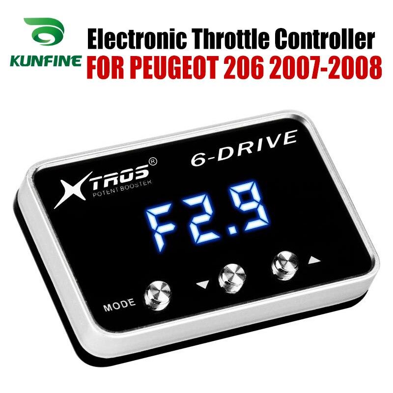 Volhardend Auto Elektronische Gasklep Controller Racing Gaspedaal Potent Booster Voor Peugeot 206 2007-2008 Tuning Onderdelen