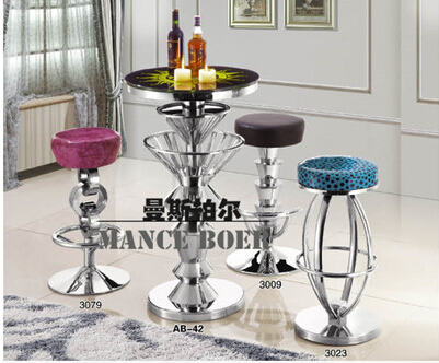 European Fashion Stainless Steel Bar Chair To Restore Ancient Ways Jewelry Chair Recreational Chair At The Front Desk Cheap Sales Bar Furniture