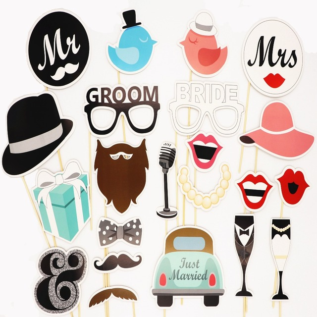 Photo booth props mrmrs just married wedding decoration bride photo booth props mrmrs just married wedding decoration bride groom photobooth bridal shower wedding party decoration junglespirit Choice Image