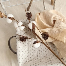 Naturally Dried Cotton Branch Fake Flowers Farmhouse Style Artificial Cotton Bouquets Natural Dried Wedding Cotton Stems Bouquet naturally dried cotton stems farmhouse artificial flower filler floral decor artificial flowers garden decoration fake