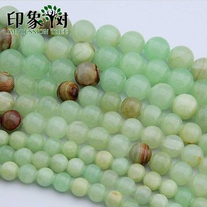 Natural Afghan Cyan Jades Round Stone Beads 4/6/8/10/12/14mm Pick Size Smooth Round Loose Bead DIY Necklace Jewelry Makings 1857(China)