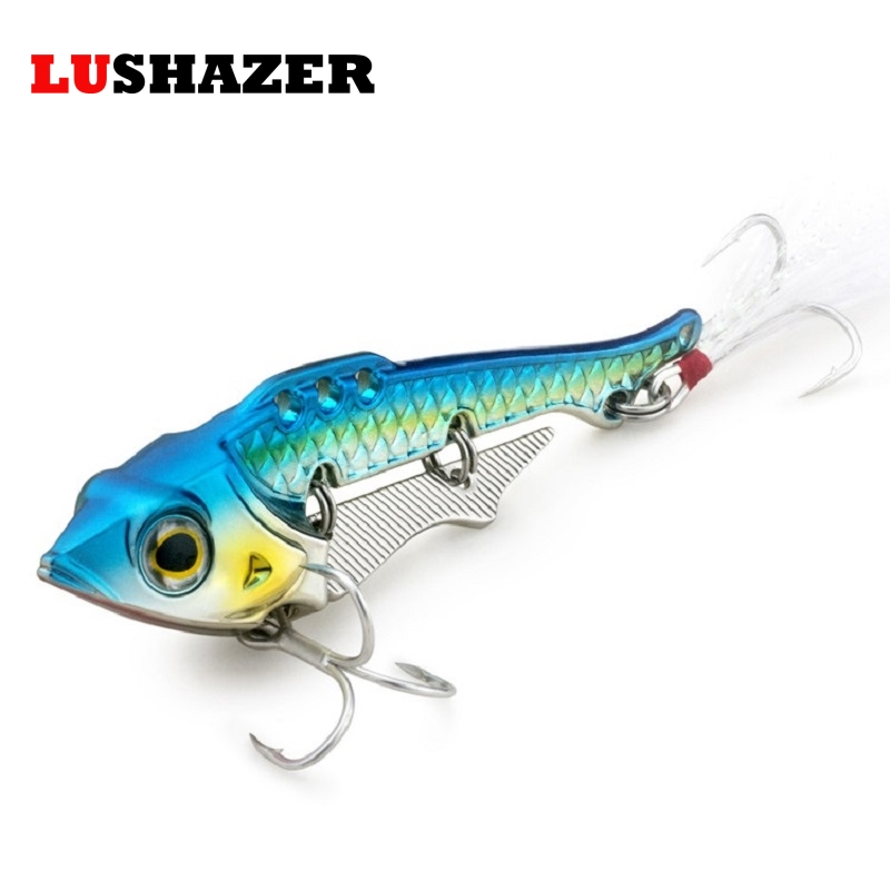 Free shipping vib fishing lure spoon lure metal bait 40g for Spinner fishing lures