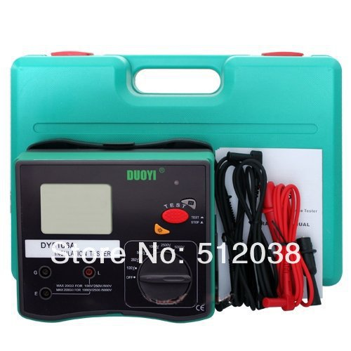 DY5106A testeur de résistance à l'isolation numérique voltmètre megohmmètre 5000 V
