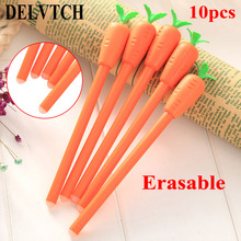 DELVTCH 10PCS/set 0.38mm Cute Black Ink Magic Erasable Pen Gel Office School Painting Writing Stationery Supplies Gifts
