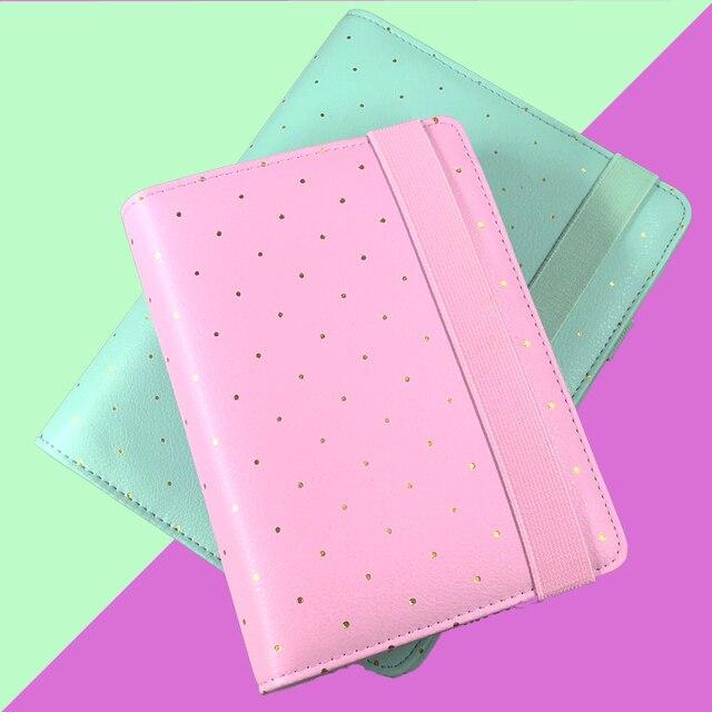 Lovedoki кожаная спиральная записная книжка Журнал Дневник A5 A6 Организатор эластичных лент офисные и школьные принадлежности Канцтовары