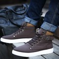2017 Spring Autumn Men Shoes Fashion Casual Shoes for Mans Footwear New High Top Men Boots 6 Color chaussure homme Size 38-46