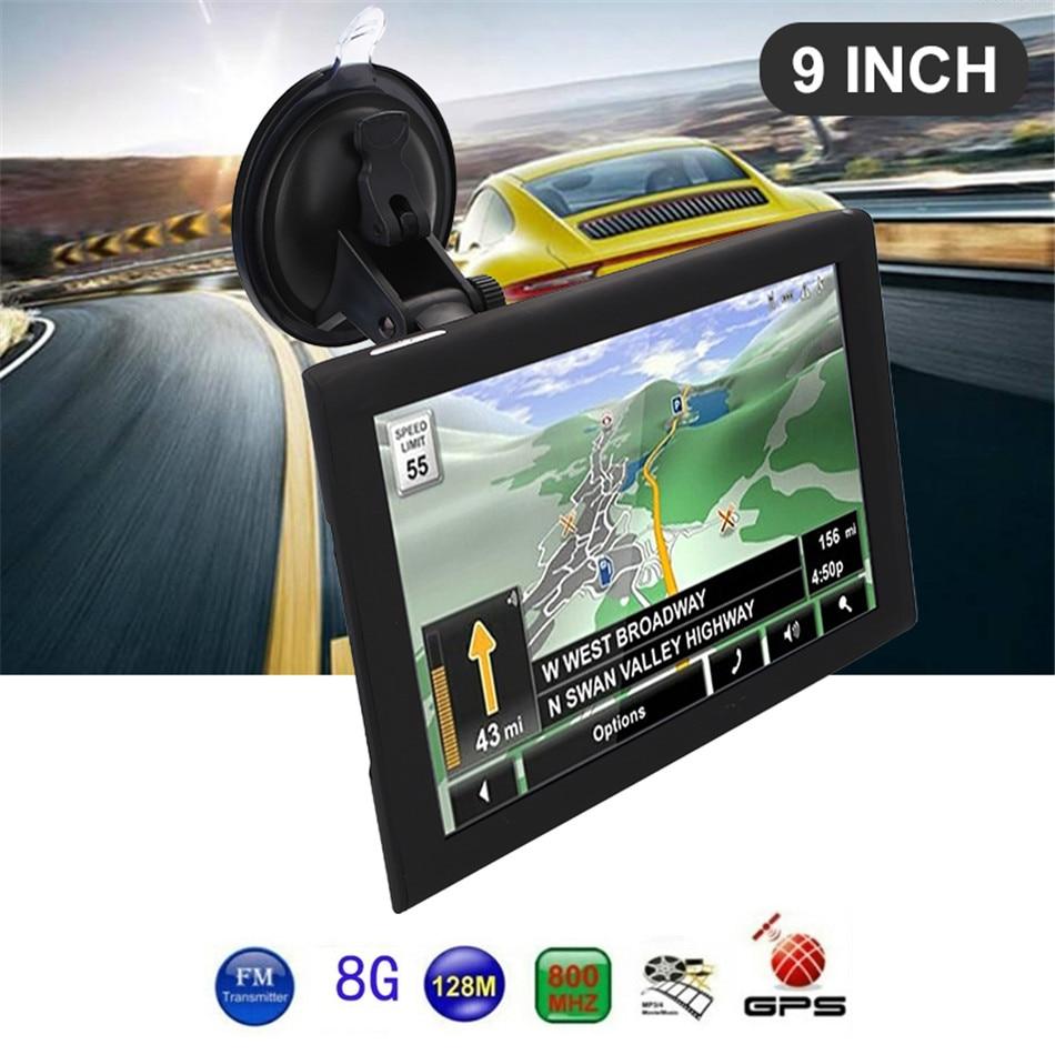 9 дюймов gps навигатор система навигации транспортного средства датчики автомобильный навигатор Портативный фотография электронный альбом грузовик gps навигатор s