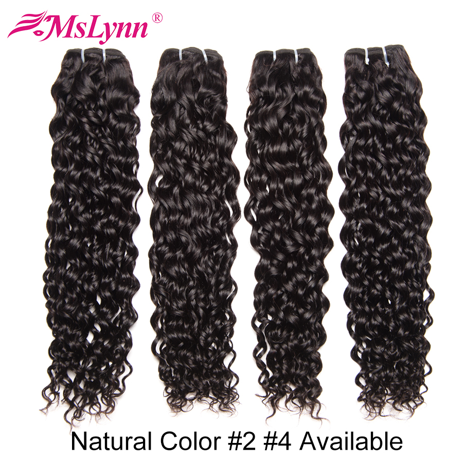 Mslynn Hair Indian Water Wave Bundles 3 Or 4 Bundle Deals 100 Human Hair Bundles 10