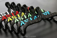 New 6 Color ASIACOM Compact Type Road Bike 3K Full Carbon Fibre Bicycle Handlebar And Stem