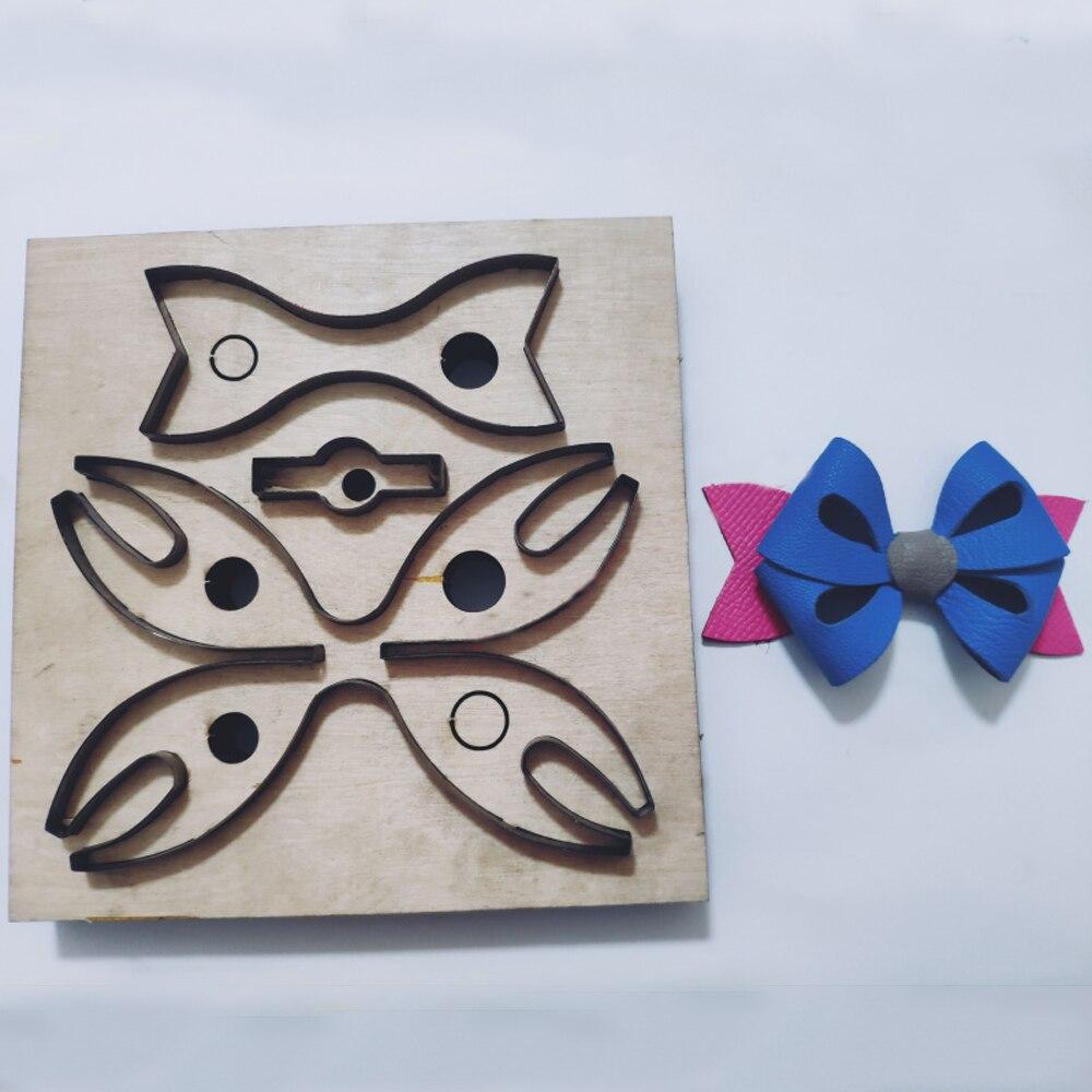 Artisanat cuir bricolage beurre cravate forme sac décoration suspendue couteau de découpe moule plaque de bois main machine poinçon outil ensemble