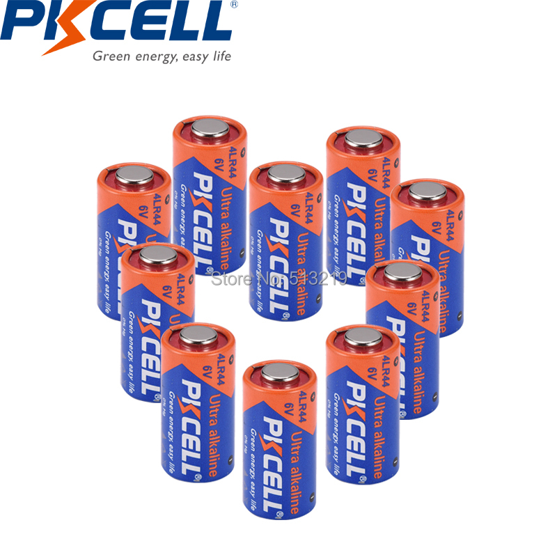 10pcs PKCELL 4LR44 <font><b>6v</b></font> <font><b>battery</b></font> Dry Alkaline <font><b>Batteries</b></font> <font><b>4A76</b></font> A544V 4034PX PX28A L1325 4AG13 544 for Dog Training Shock Collars