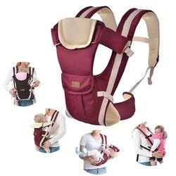 2-30 meses portador de bebê multifuncional frente frente frente frente frente do portador de bebê bebe infantil alta qualidade estilingue mochila bolsa envoltório canguru