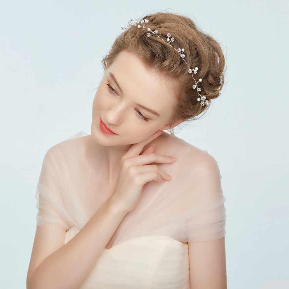 Accesorios para el pelo de la boda 206 peines para el cabello Tiaras de novia Tiaras strass accesorios para mujer adornos florales y de la cabeza de la criba