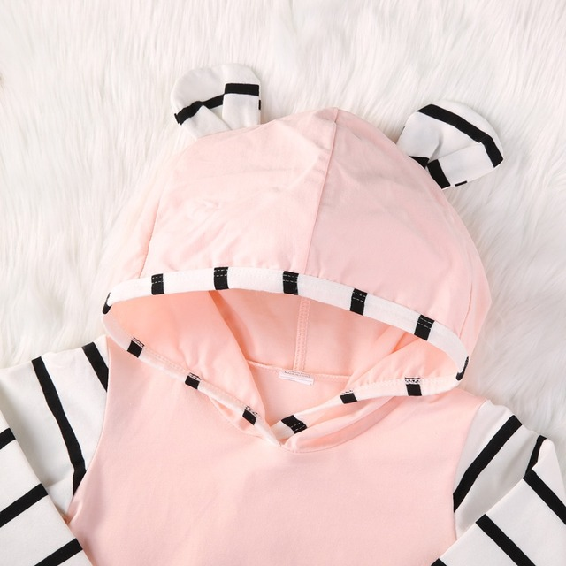 Baby Girl Clothing Set Hooded