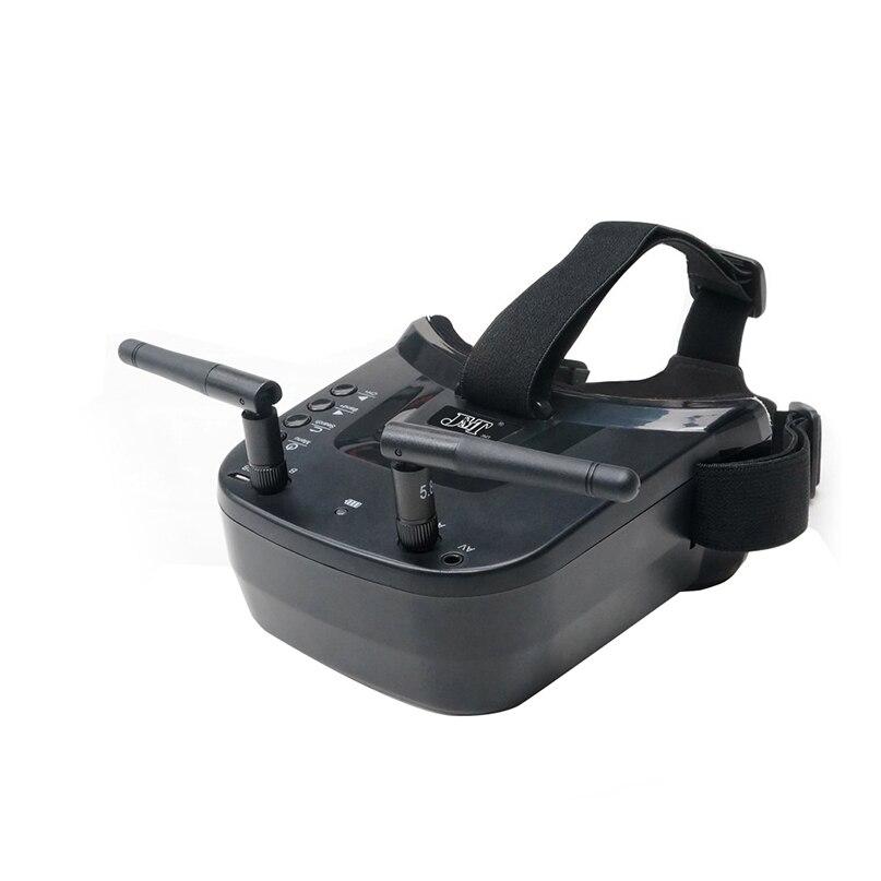 Double antenne 5.8G 40CH Mini FPV lunettes 3 pouces 480X320 affichage intégré 3.7V 1200mAh batterie pour RC Racing Drone