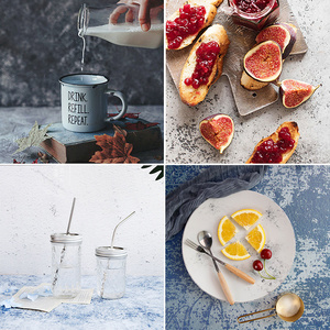 Image 1 - Desktop Photography Background Paper Double Sided Cement Texture Fotografia Studio Photos Accessories for Food Drink Toiletries