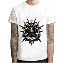 Punisher Skull Summer Casual Fashion Cotton O-Neck Short Sleeves Men's T-shirt