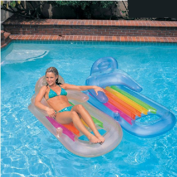 Vilead Handrails Back Luxury Lounge Chair Water Deck Inflatable Float Mat Floating Lazyback In Air Mattresses From Sports