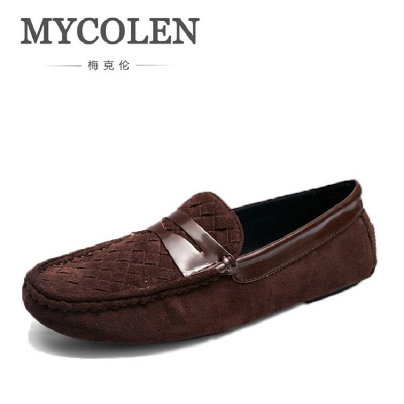 MYCOLEN 2017 Cow Leather Flats Shoes Luxury Fashion Comfortable Leather Loafers Shoes Men Moccasins Mens Casual Footwear 2017 new comfortable casual shoes loafers men shoes quality split leather shoes men flats hot sale moccasins shoes