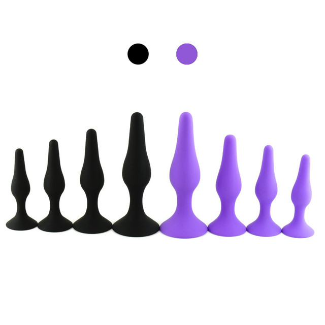 4 Pcs/set New Long Anal Sex Toys Soft Anal Butt Plugs for Women Adult Sexy Prostate Massage for Men Masturbator Sex Products