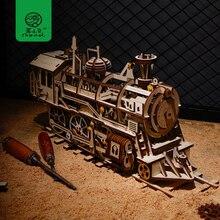 Robud творческий 4 вида DIY лазерной резки 3D механическая модель игра деревянная головоломка сборки игрушка в подарок для детей подростков взрослых LK