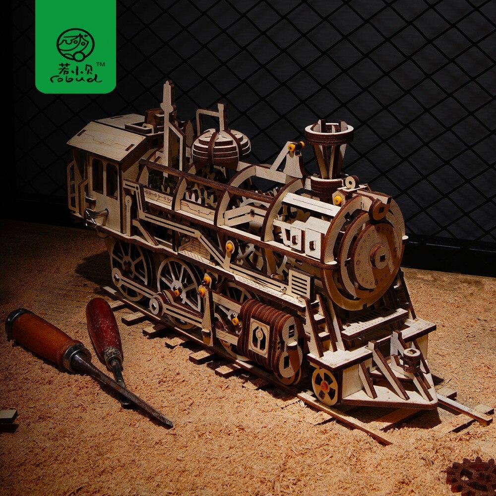 Robud Creative 4 Sortes DIY Laser De Coupe 3D Mécanique Modèle En Bois Puzzle Jeu Assemblée Jouet Cadeau pour les Enfants Adolescents Adulte LK