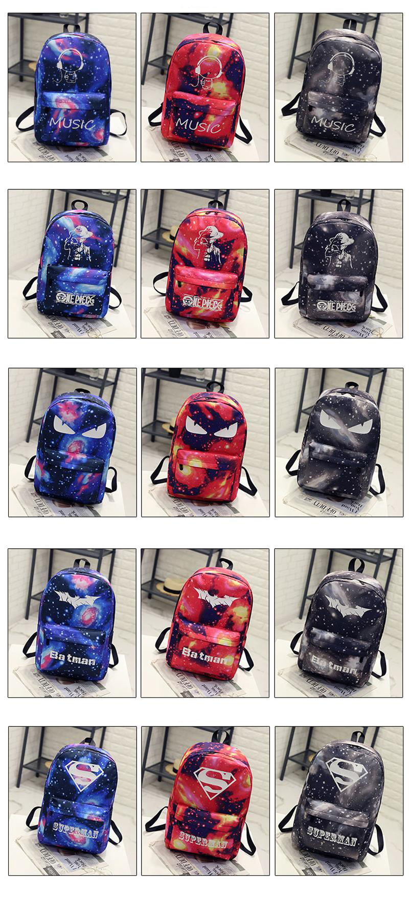 2339e65b3d09 BONAMIE Night Light Cool Backpack Music Boy Backpacks Luminous ...