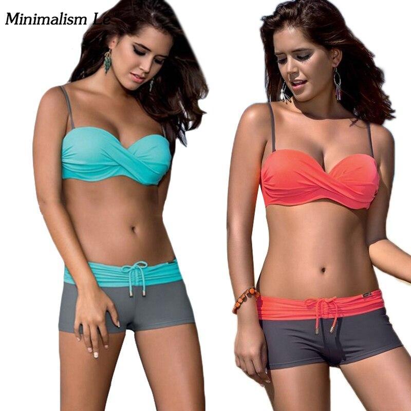 Minimalism Le Brand Sport Bikini Set 2017 Swimwear Women Sexy Swimsuit Bathing Suit Low Waist Biquini Brazilian BK557