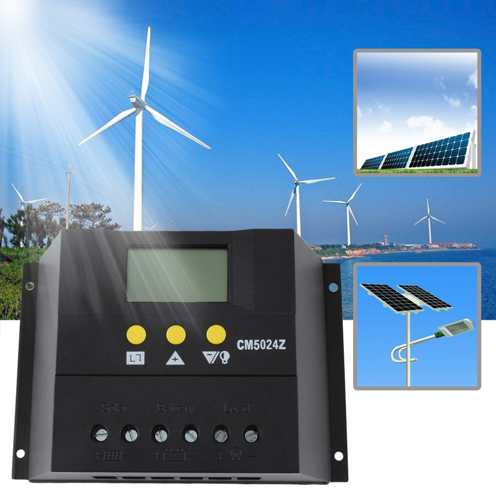 ФОТО New 50A 12-24V and 48V Solar Regulator Solar Charge Controller LCD Solar Genetator