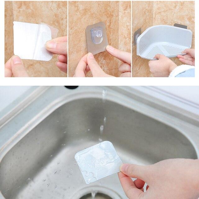 1 unid útil nueva cocina de plástico esquina baño estante de ...