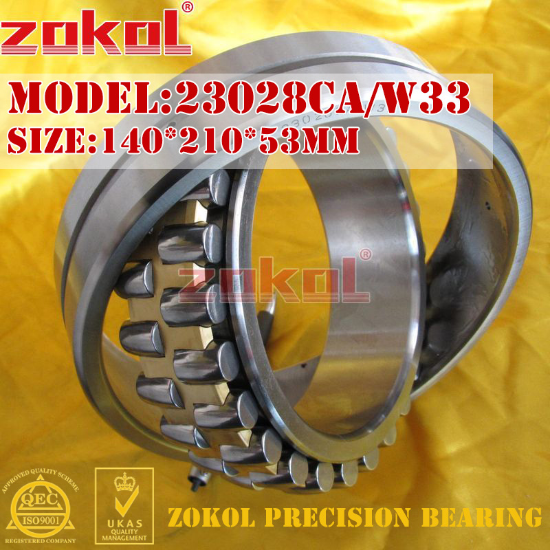 ZOKOL 23028 CA bearing 23028CA W33 Spherical Roller bearing 3053128HK self-aligning roller bearing 140*210*53mmZOKOL 23028 CA bearing 23028CA W33 Spherical Roller bearing 3053128HK self-aligning roller bearing 140*210*53mm