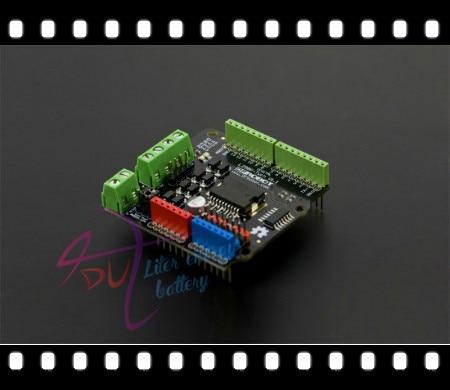 DFRobot two channel/Dual 2A Motor Drive Shield for arduino Twin V1.1 L298P 4.8~35V Compatible with Arduino UNO R3/Mega 1280/2560 uno shield ethernet shield w5100 r3 uno mega 2560 1280 328 unr r3 only w5100 development board for arduino