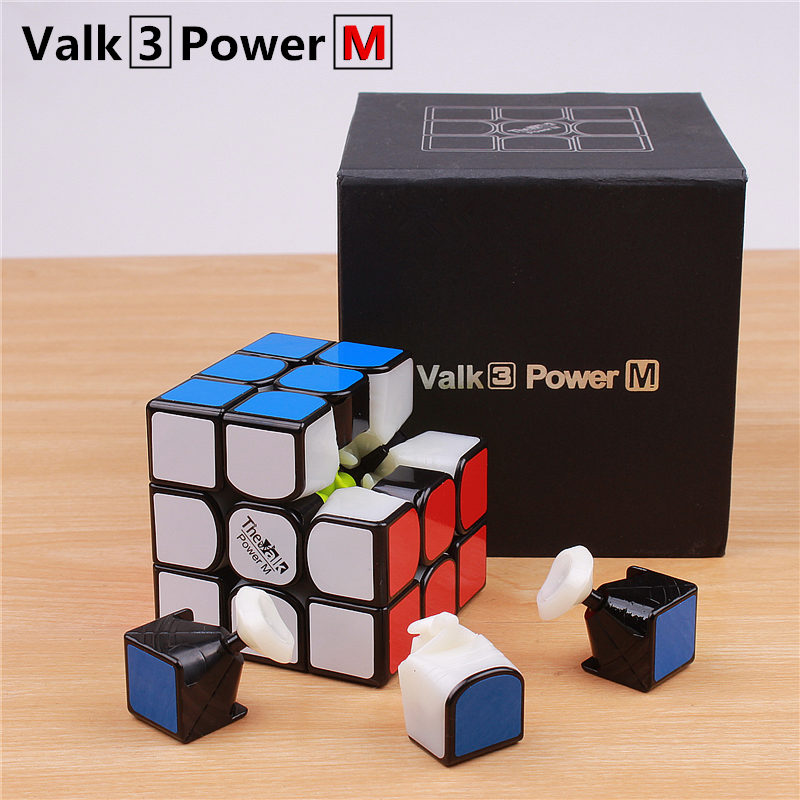 Qiyi the valk3 power m speed cube 3x3x3 magnetic stickerless profesional cubo magico juguetes para niños valk 3 m puzzle cubo imán