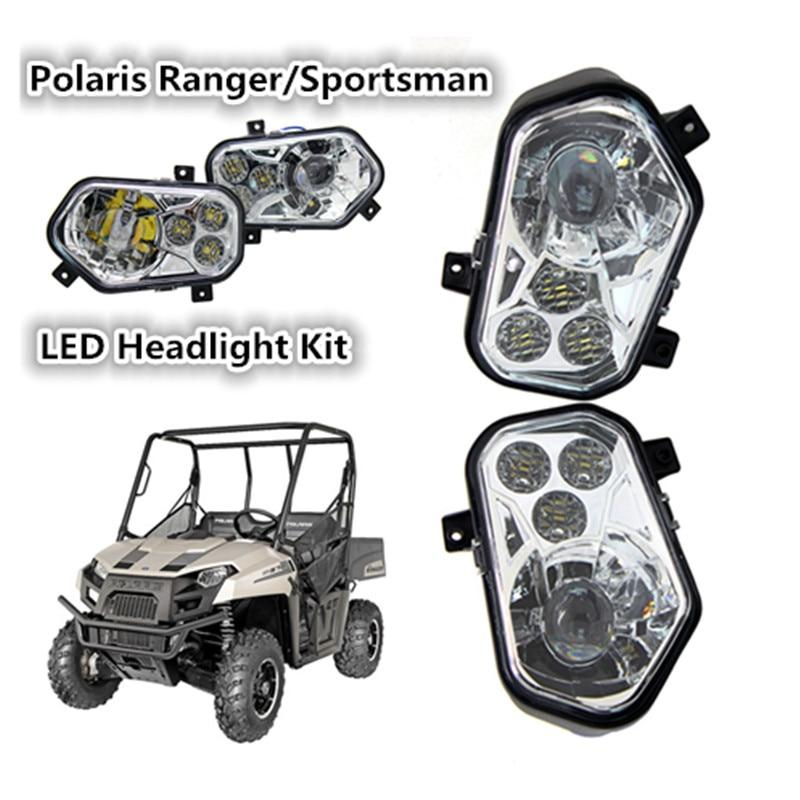 Pair Atv Utv Light Accessories Projector Headlight Polaris