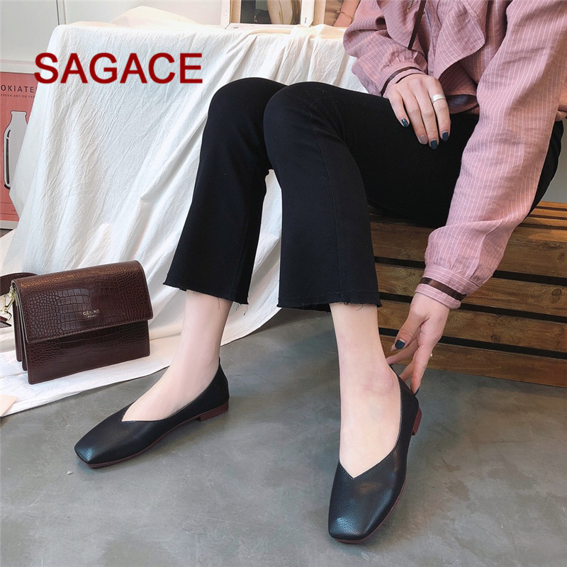 HB@2018 HOT SALE Fashion Women Summer Autumn Skid-proof Square Toe Flat Casual Sandals Shoes