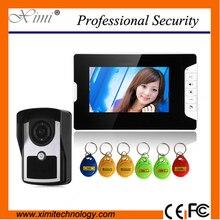 Cheaper IP55 waterproof outdoor unit wired door bell system hands free video door phone with night vision IR video intercom