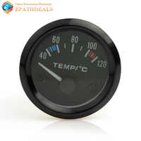 New 2 inch 12V Universal Car Pointer Water Temperature Meter Water Temp Gauge Auto Instrument 40 - 120 C with LED